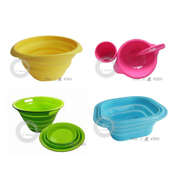 2013 JE Brand New collapsible travel folding silicone bowls