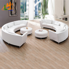 low price genuine leather furniture living room sofa set c shaped curved 6 seater sectional sofa
