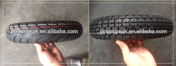 China factory for tubeless motorcycle scooter tyres 350/10 90/90/10 100/9010 120/90/10 TL