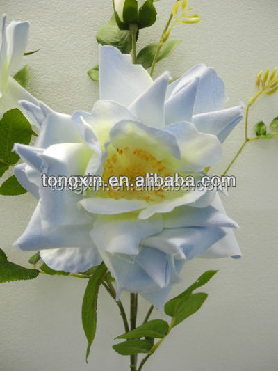 27407M Graceful form curled rose silk flowers,packing is mixture flowers,mix color.