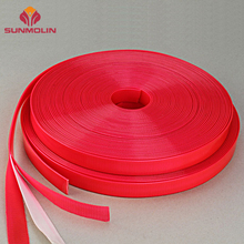 Wholesale red non pvc plastic colored tpu coated nylon strap webbing for dogs collar