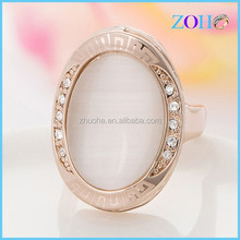 china online shopping milky olivary opal gold optima ring only retail sale decorations ring
