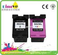 Show ink level chip! Remanufactured ink cartridge for HP 302XL