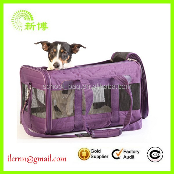 2017 fashion oxford front packed clathrate pet carrier bag
