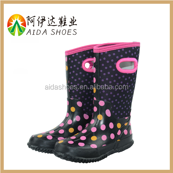 2016 New Products fashion Women Mature Rubber Rain Boots