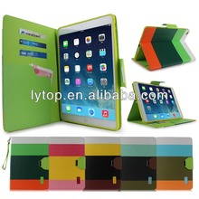 High quality and cheap price for ipad air leather case flip cover, for ipad air card holder with stand slim 2015