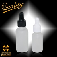 30ml beautiful frost matte rubber tip vial glass dropper bottle