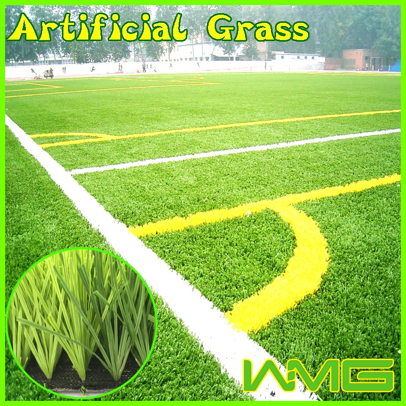 Safety surface artificial grass for sport pitch