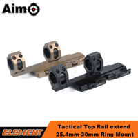 Aim-O AR15 Tactical Rifle Scope Mount QD Scope Mount Extended 25.4mm 30mm Scope Ring Auto Lock