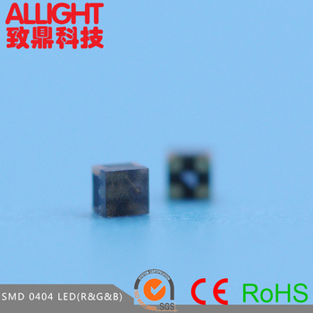 Dongguan ALLIGHT hot sale 0404 smd led, rgb led