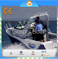 5.8m aluminum cabin fishing boat With Targa