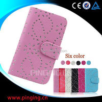 china supplier phone cases snow flower cover leather case for iphone 4g 4s
