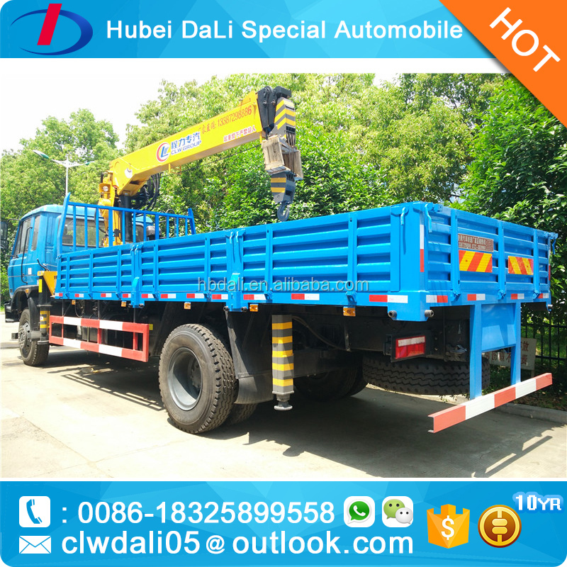 Dongfeng hiab crane truck 10 ton for sale