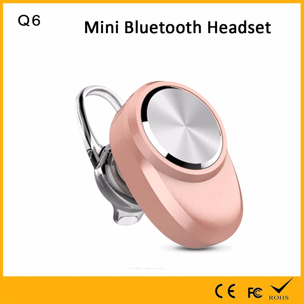 Auhope factory manufacture high quality pure stereo handsfree wireless earphone bluetooth bling headphones pink mini headset