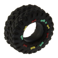 Free shipping Animal Sounds Tire Shape Pet Dog Toy Puppy Cat Chews Squeaky Rubber Toys Squeaking 8*4cm tire pet toys