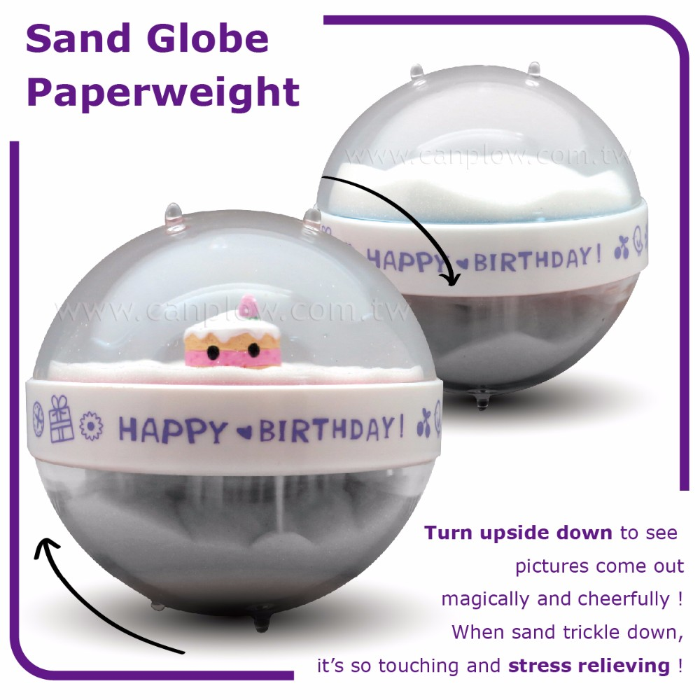 Acrylic birthday party souvenir sand paperweigt birthday souvenir gifts