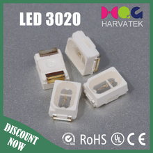 Good price 3.0x2.0x1.3mm surface mount 0.1w 3020 smd led specification