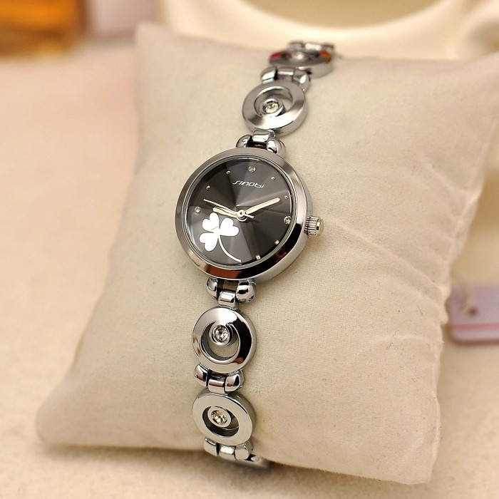 SINOBI Mental Case Woman Bracelet Wristwatch, Ladies Watches