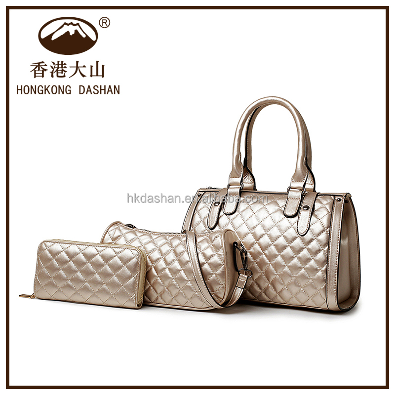 2016 latest set bag Designer handbag for women with good leather factory price handbag china wholesale