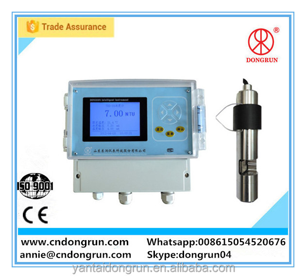 CE approved self-cleaning 4~20mA/RS485 turbidity probe for water treatment/swimming pool