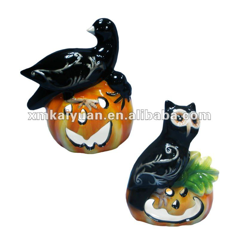 Wholesale ceramic halloween candle holders