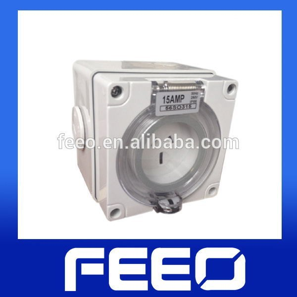Extension IP66 250V 20A electric 3pin weatherproof power socket