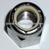 Hexagonal Nylon lock nut types make in China Dongguan