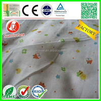 High quality Hot sales 100% cotton printed muslin fabric factory