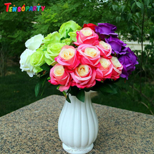 Hot Sale Real Touch Flower Artifical Silk Rose Flower Beautiful Rose Artificial Rubber Flower