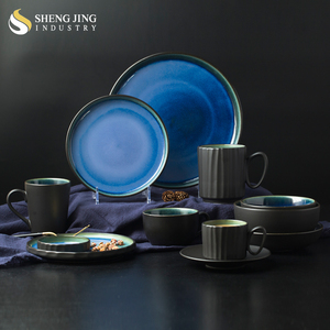 Wholesale China Factory Japanese Dinner Set Cheap Ceramic Plates Dishes Customized Mugs