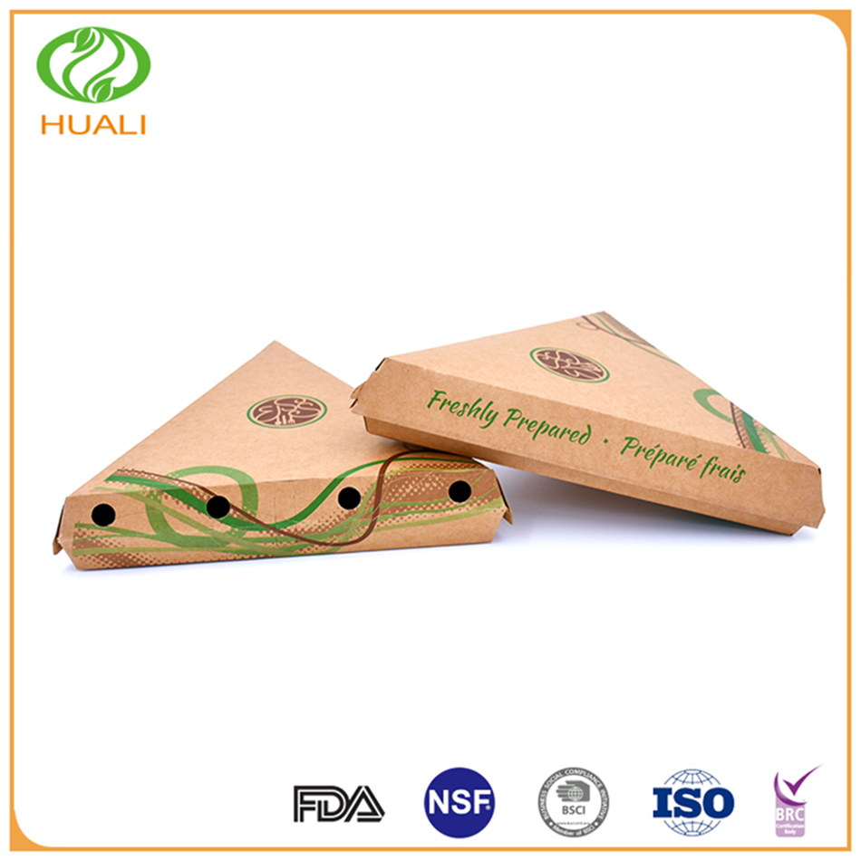 Cheap exquisite shape non-toxic take away pizza packing box
