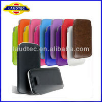 Hot selling pu pull tab case for samsung galaxy s4 mini, for i9190 case laudtec