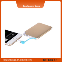 ODM / OEM Wholesale Credit Card Battery Charger Power Bank for Samsung / iPhone / Huawei