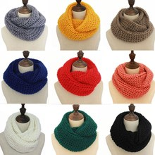 New arrival warm stylish soft solid color unsex woolen yarn plain knitting scarf