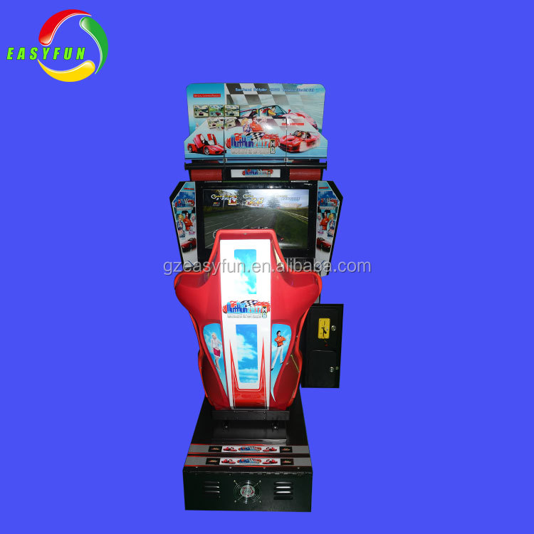 Coin operated electronic kids racing car games machine online play OutRun adult car driving simulator machine
