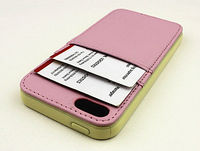 Credit card slot wallet leather case for iphone5,for iphone5 leather case