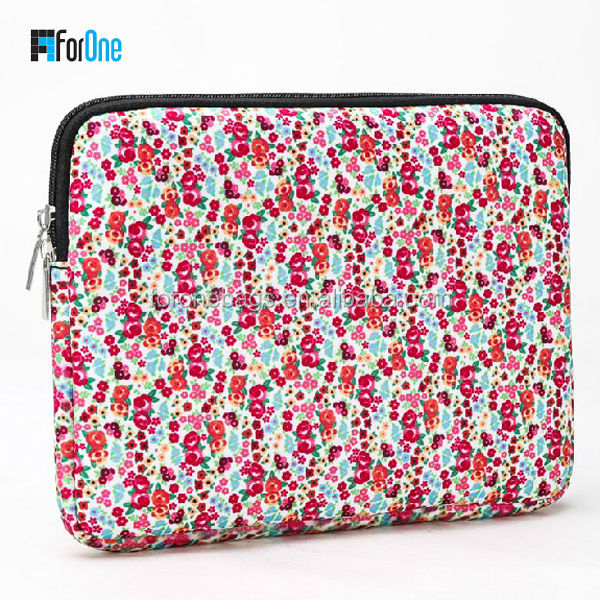 Customize colorful printed Neoprene laptop sleeve