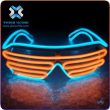 led sunglasses Best selling Colorful neon light flashing el wire glasses led party sunglasses