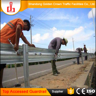 Timely shipment galvanized railing road barrier steel rail highway guardrail