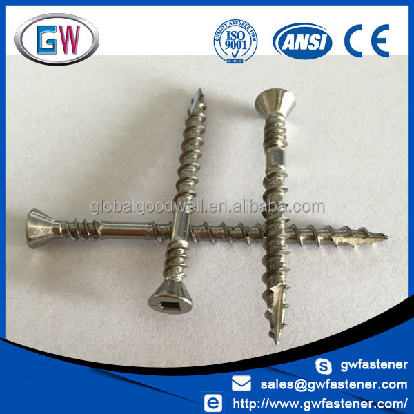 Discount price Marine Grade Stainless Steel T17 composite decking screw