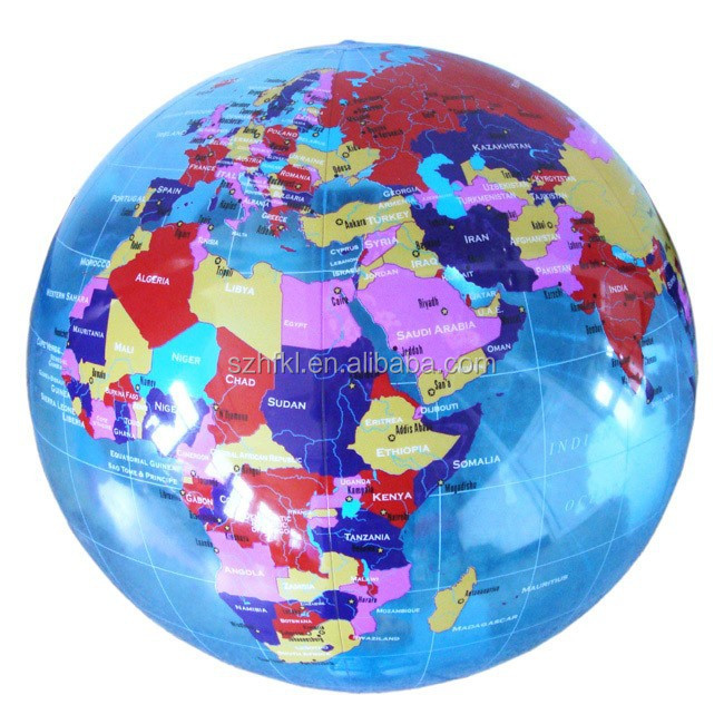 18inches inflatable world map ball