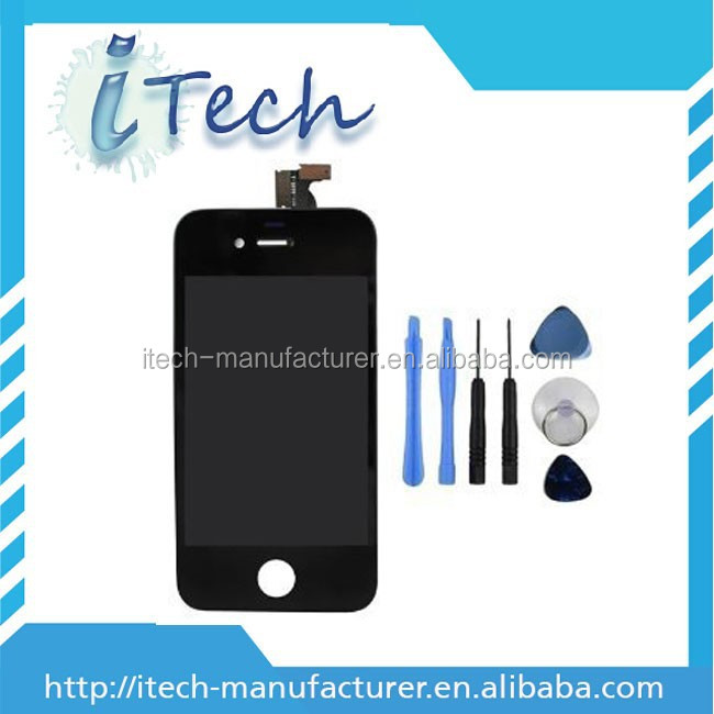 front frame for iphone 4gs lcd complete, for iphone 4s digitizer lcd, screen for iphone4gs lcd digitizer assembly