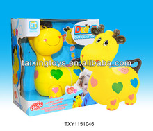 B/O&Electric Cartoon Deer&Dog&Cow animals with Music and Light Toys