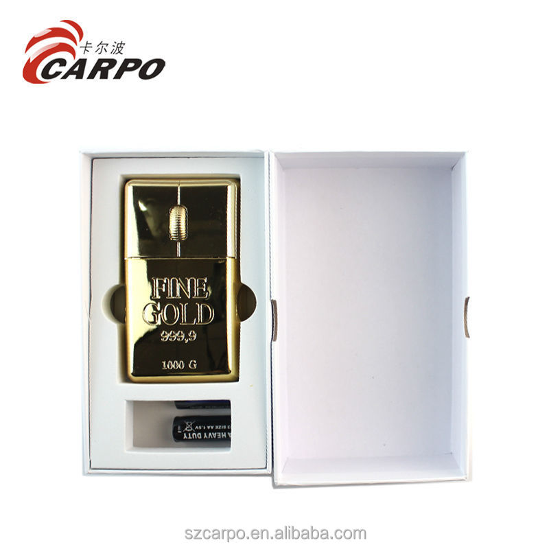 Hot selling Royal Gold Brick Style 1000DPI drivers USB Optical Mouse