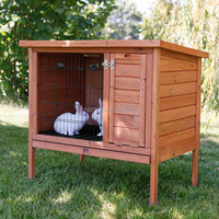 outdoor wooden house for rabbit