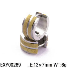 EXY00269 hot new 2017 fancy huggie hoop gold plated earring jewellry for men and women