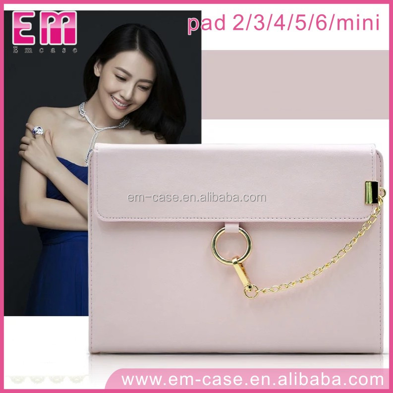 For iPad 23456/Mini1234 Actress Style Hand Bag Design Untrathin Leather Cover Flip Case