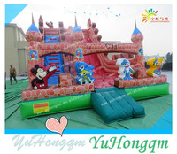 China manufacturer playground castle type inflatable pvc tarpaulin slide for sale