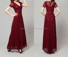 2014 Dark Red Lace Elegant Atrovirens Mother of the Groom/Bride Dress
