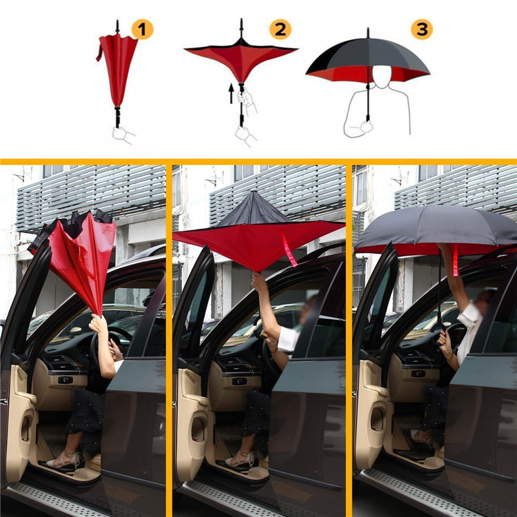 Orange Color Reverse Umbrella